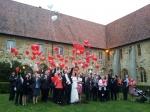 In Rheine flogen unsere Ballons zur Hochzeit