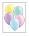 Rundballon Pastell farbend mit Perlenglanz