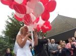 Ballons für das Brautpaar in Essen