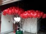 Ballons fliegen für das Brautpaar zur Hochzeit in Hamm