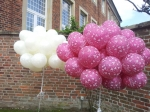 Just Married Ballons flogen im Sportschloss Velen