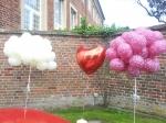 Ballons zur Hochzeit in Velen
