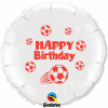 Bday Football White Red Ink